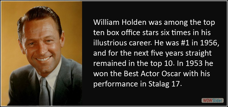 WILLIAM HOLDEN AWARD WINNING ACTOR